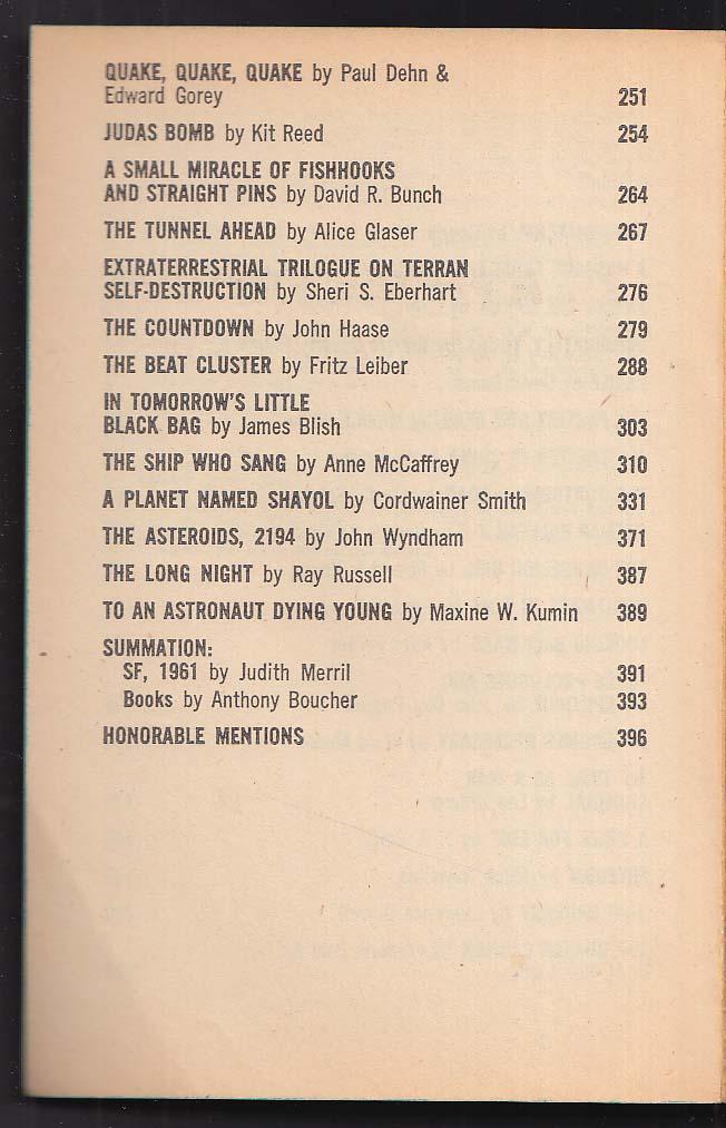 Year's Best S-F 7th Annual Edition: Leiber Blish Feiffer Szilard Wyndham ++ 1963