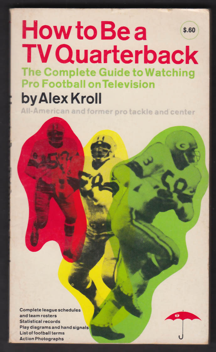 Alex Kroll: How to Be a TV Quarterback PBO 1st ed 1964 Travelers Insurance Co