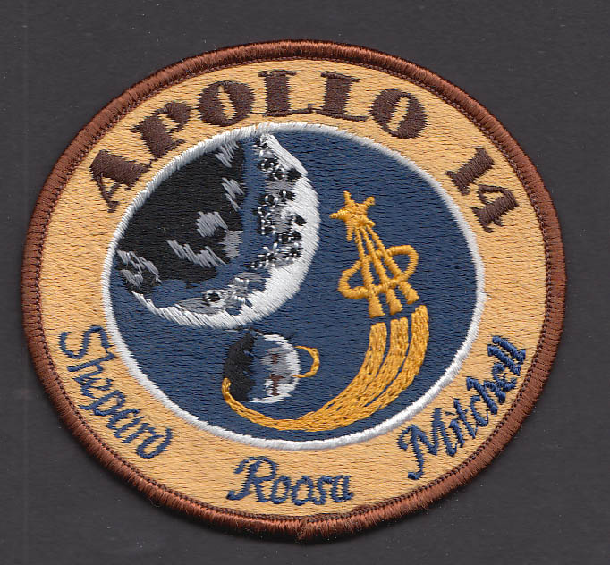 "Apollo 14 Shepard Roosa Mitchell 3"" patch"