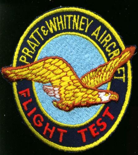 "Pratt & Whitney Flight Test 4"" patch 1970s"