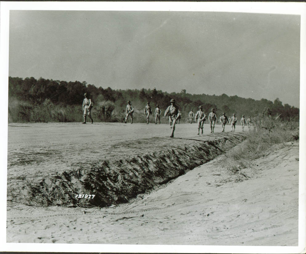 29th Inf demonstrate road advance Ft benning 8x10 1941
