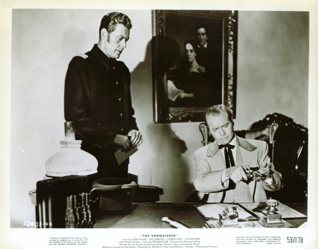 ? & Lyle Bettger in The Vanquished 8x10 1953