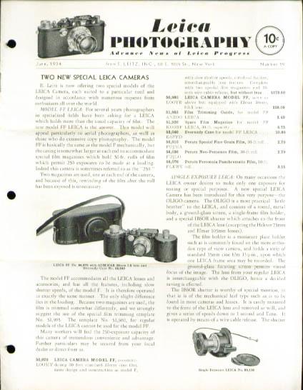 Image for Leica Photography magazine 6/1934