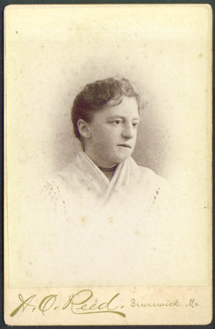 Woman shawl necklace cabinet card A O Reed Brunswick ME