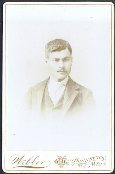 Mustache short hair cabinet card Webber Brunswick ME