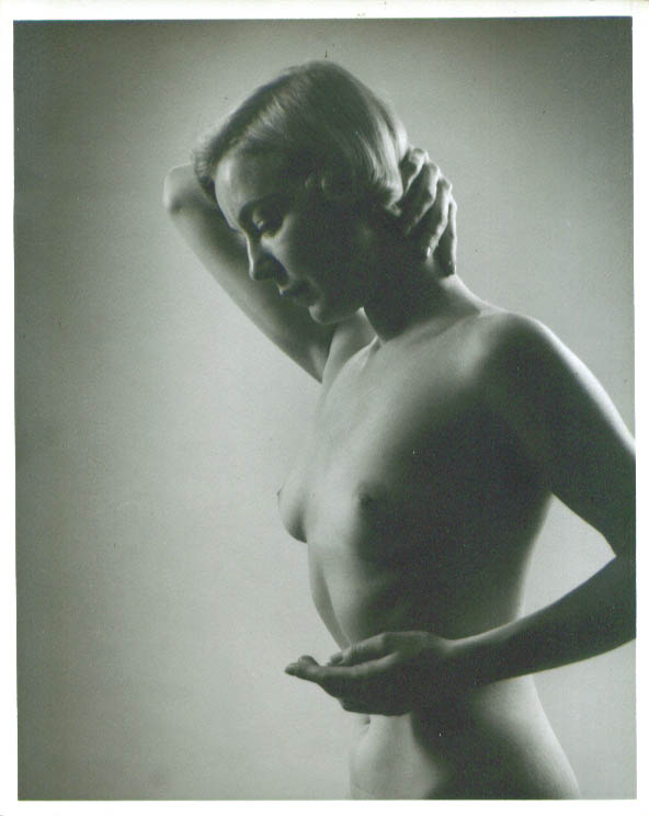 Image for Nude blonde hand behind neck profile vintage 8x10 1950s