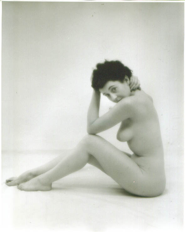Image for Dark-haired nude seated knees up vintage 8x10 1950s