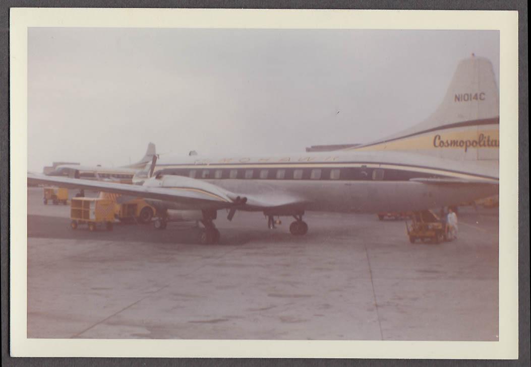 Image for Mohawk Airlines Convair Cosmopolitan N1014C on tarmac photo 1963