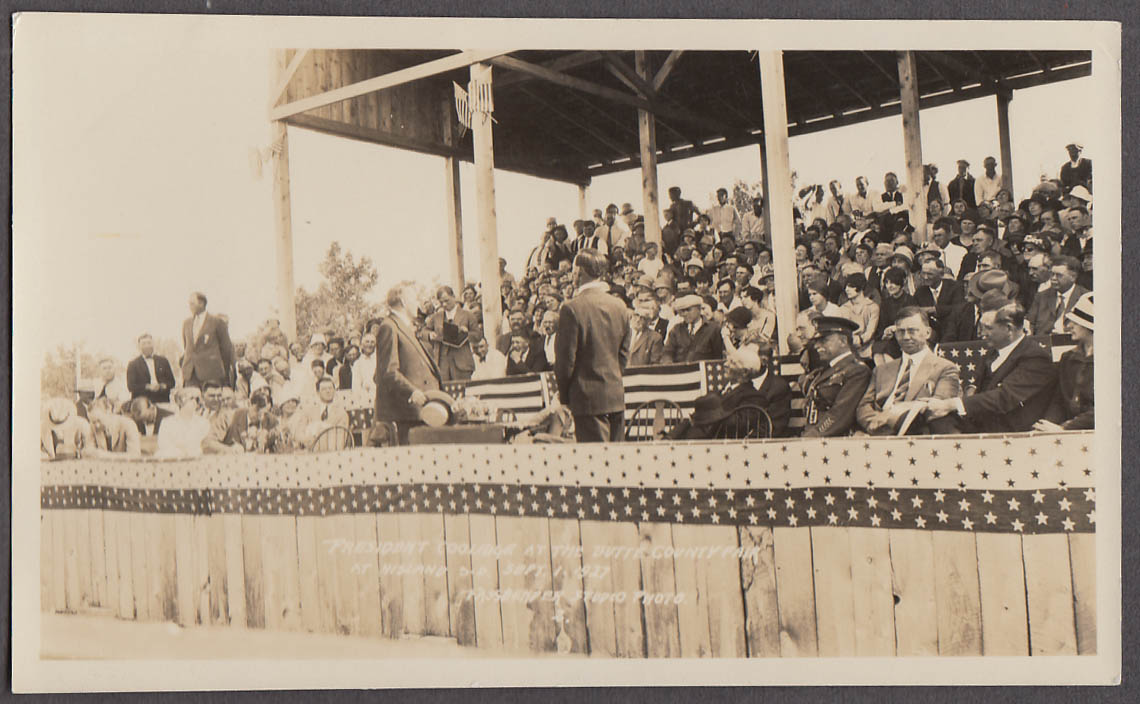 President Coolidge Butte County Fair Nisland SD photo 1927 by Fassbender