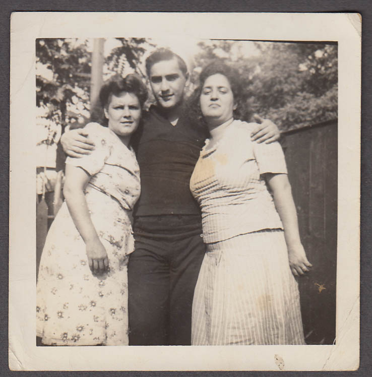 Image for Nancy Inorio Jimmy Zeoli & Theresa Zandre photo July 1944 sailor & stout gals
