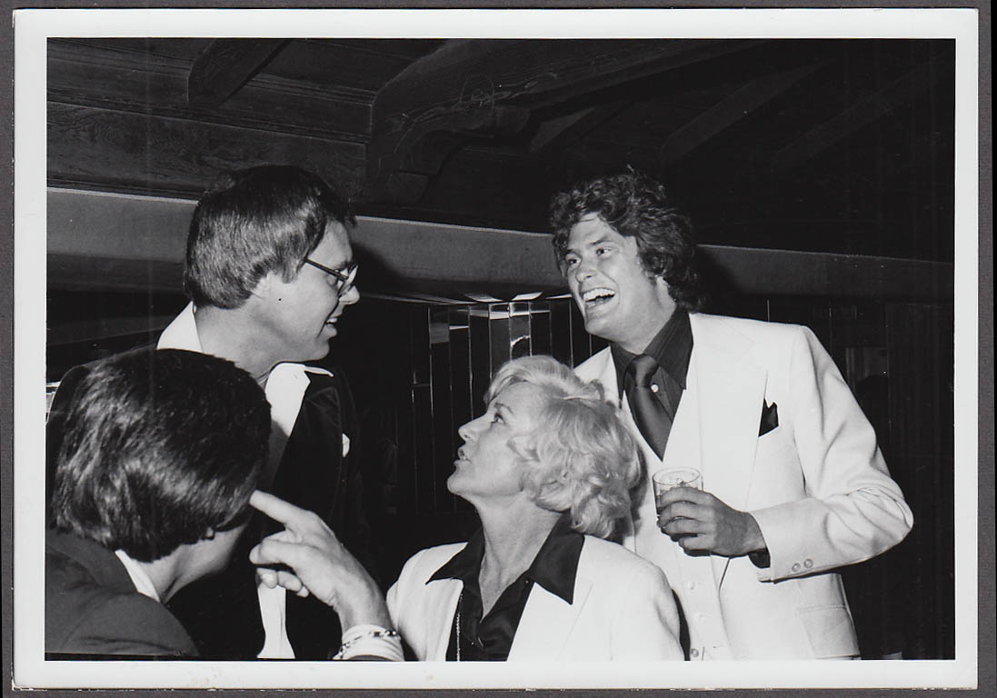 Image for TV actor David Hasselhoff at cocktail party candid photo 1970s