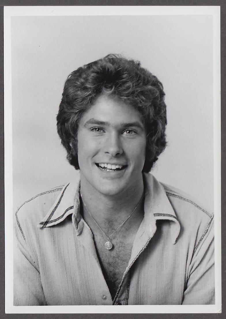 Image for TV actor David Hasselhoff studio head shot publicity photo 1970s