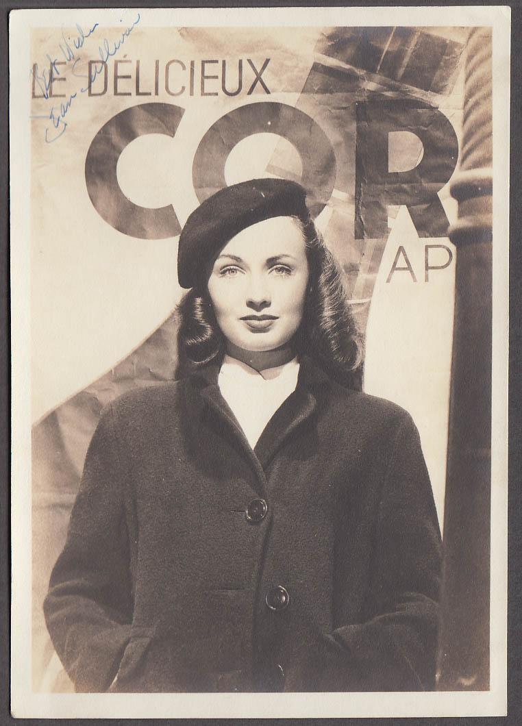 Image for Movie actress Jean Sullivan studio photo 1940s possible autograph