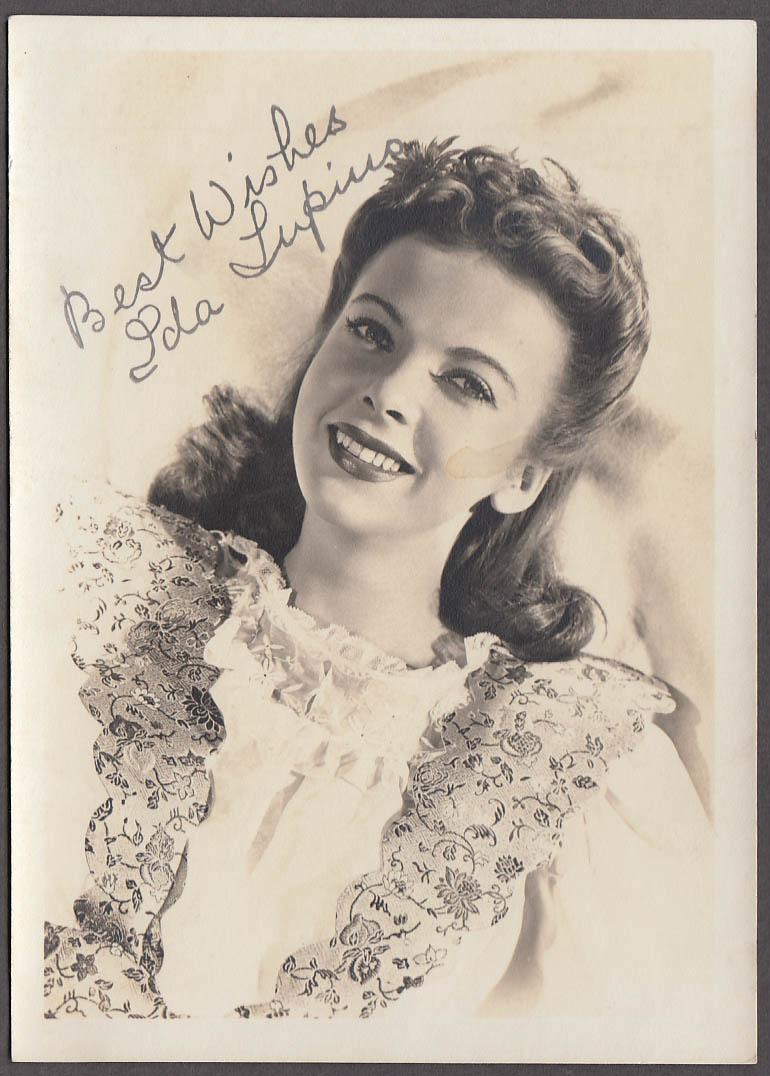 Image for Movie actress Ida Lupino studio or fan club photo 1940s
