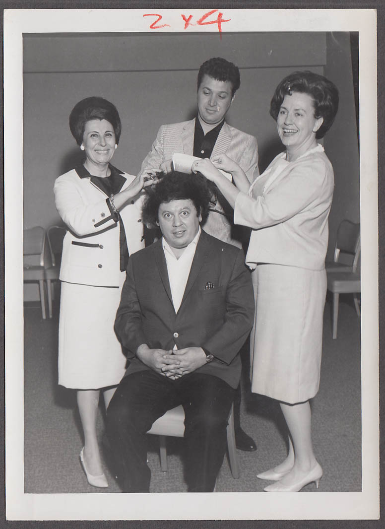 Image for Martin & Rossi comedy team candid during Hartford CT appearance photo 1960s #2
