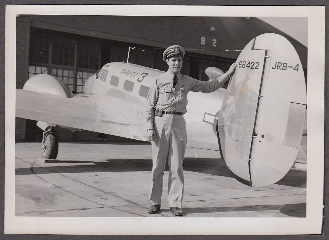 Image for Navy aviator A J Diorio & Lockheed Ventura 66422 CASU-27 photo 1940s
