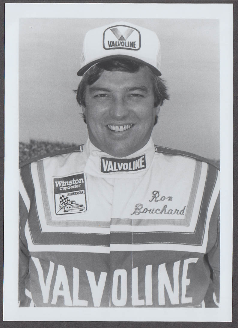 Image for NASCAR Valvoline Driver Ron Bouchard head shot photo 1980s