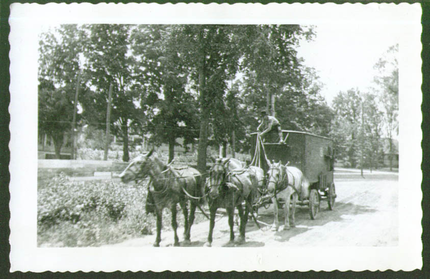 Horse-drawn Wagon John Robinson Circus photo 1919