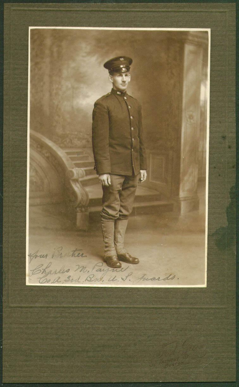 GI Charles M Payne 3rd Bn U S Guards photo Boston 1910s