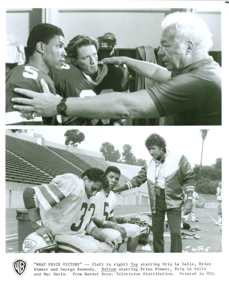 George Kennedy Eriq La Salle Brian Wimmer Mac Davis What Price Victory 8x10 1988