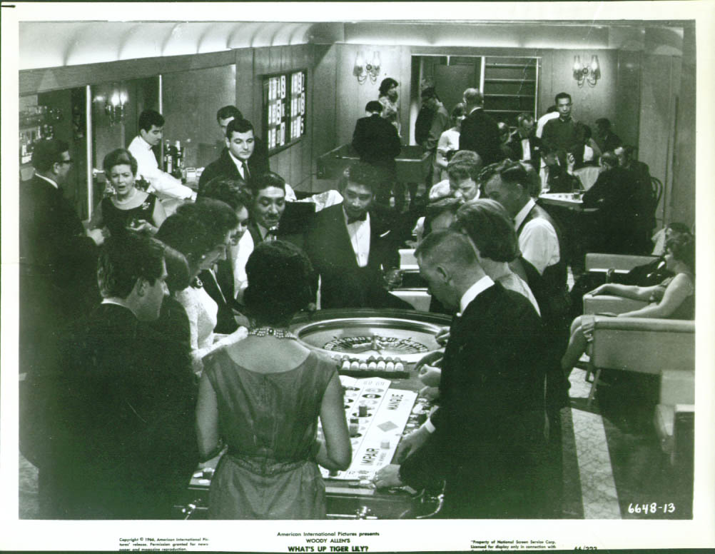 Gambling room in What's Up Tiger Lily? 8x10 1966