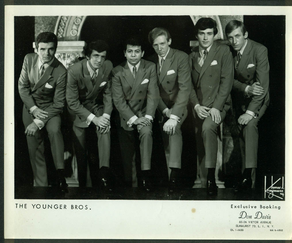 The Younger Brothers Rock Singing Group Don Davis Agent Publicity 8x10 1950s