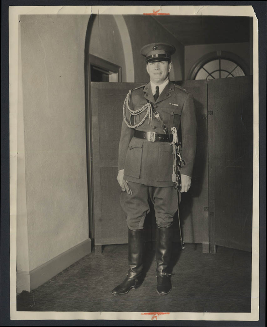Major James J Gene Tunney at Wilbur Cross Inauguration news photo 1931