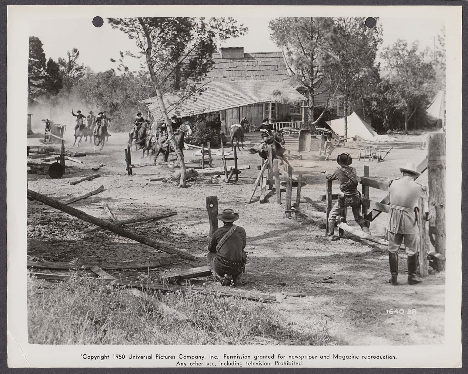 Action scene from Kansas Raiders 8x10 photo 1950 #38