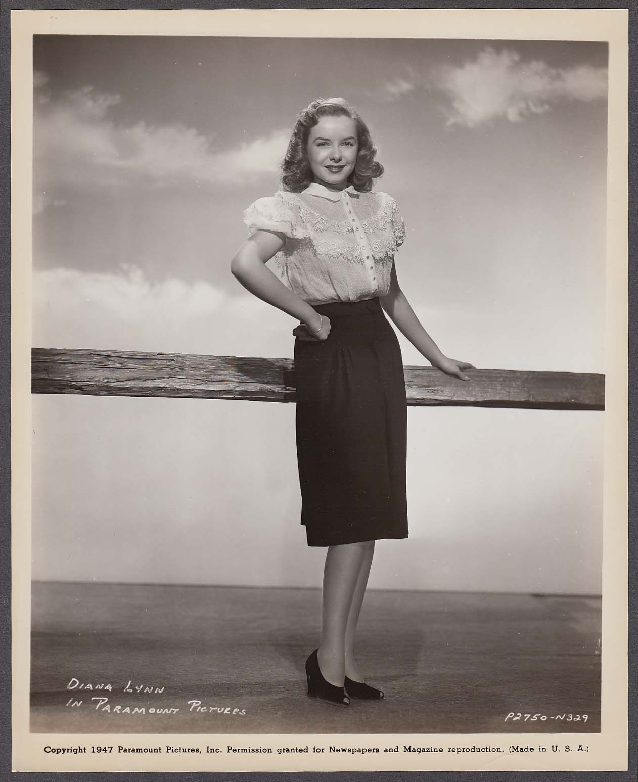 Diana Lynn Paramount Pictures 8x10 photo 1947 #4
