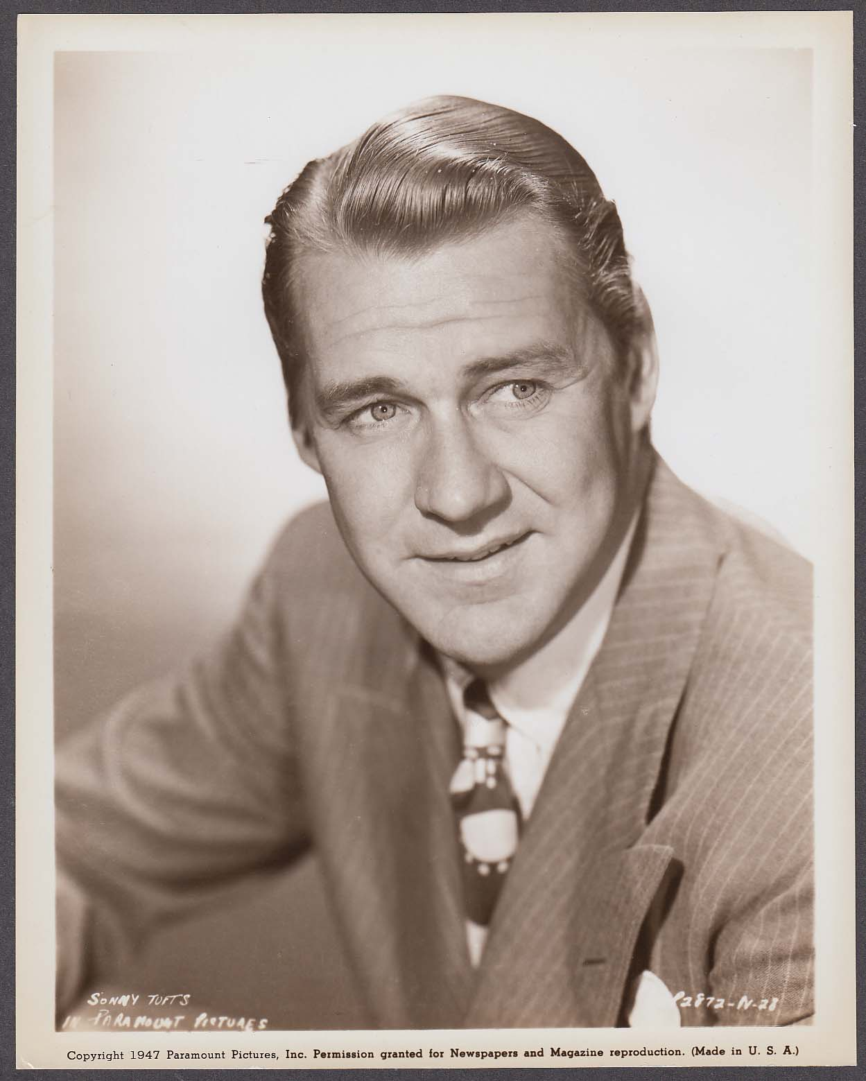 Sonny Tufts Paramount Pictures headshot 8x10 photo 1947