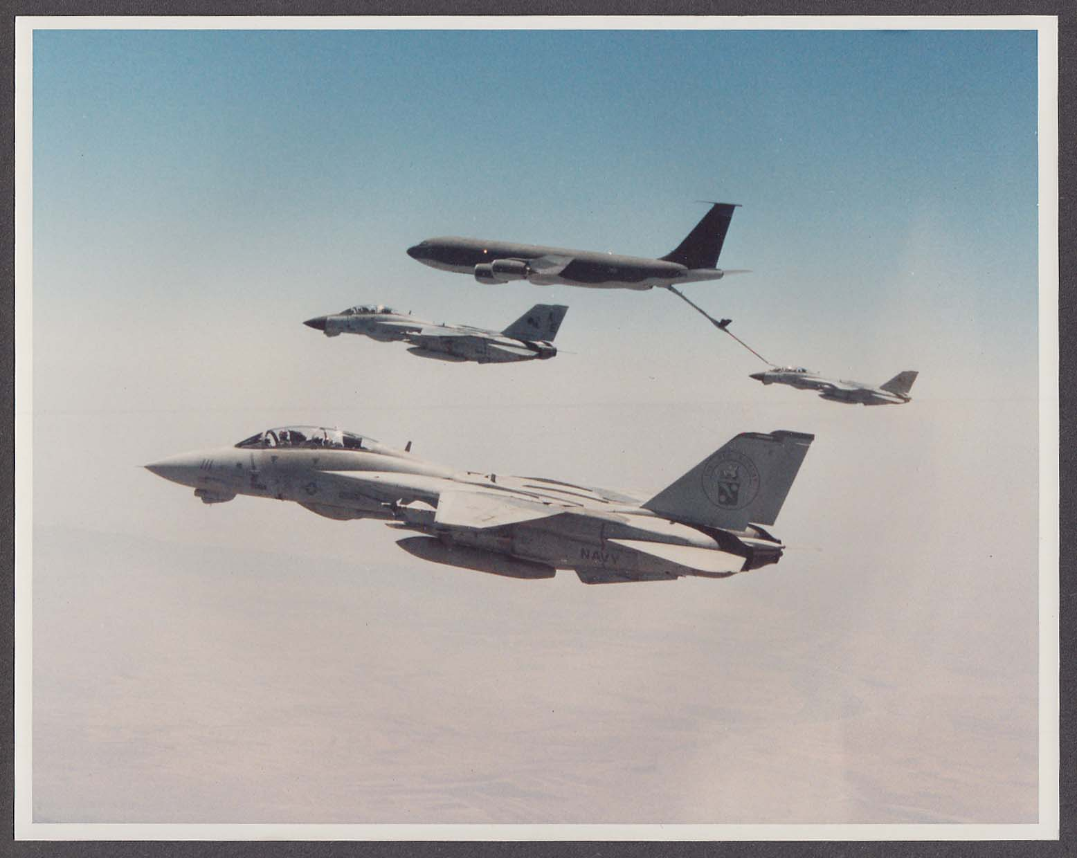 Image for US Navy F-14 Tomcat Red Rippers refueling 8x10 photo