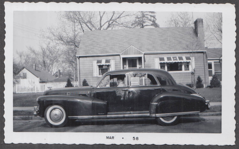 1941 Cadillac Fleetwood sedan vernacular snapshot #2 taken 3/1958