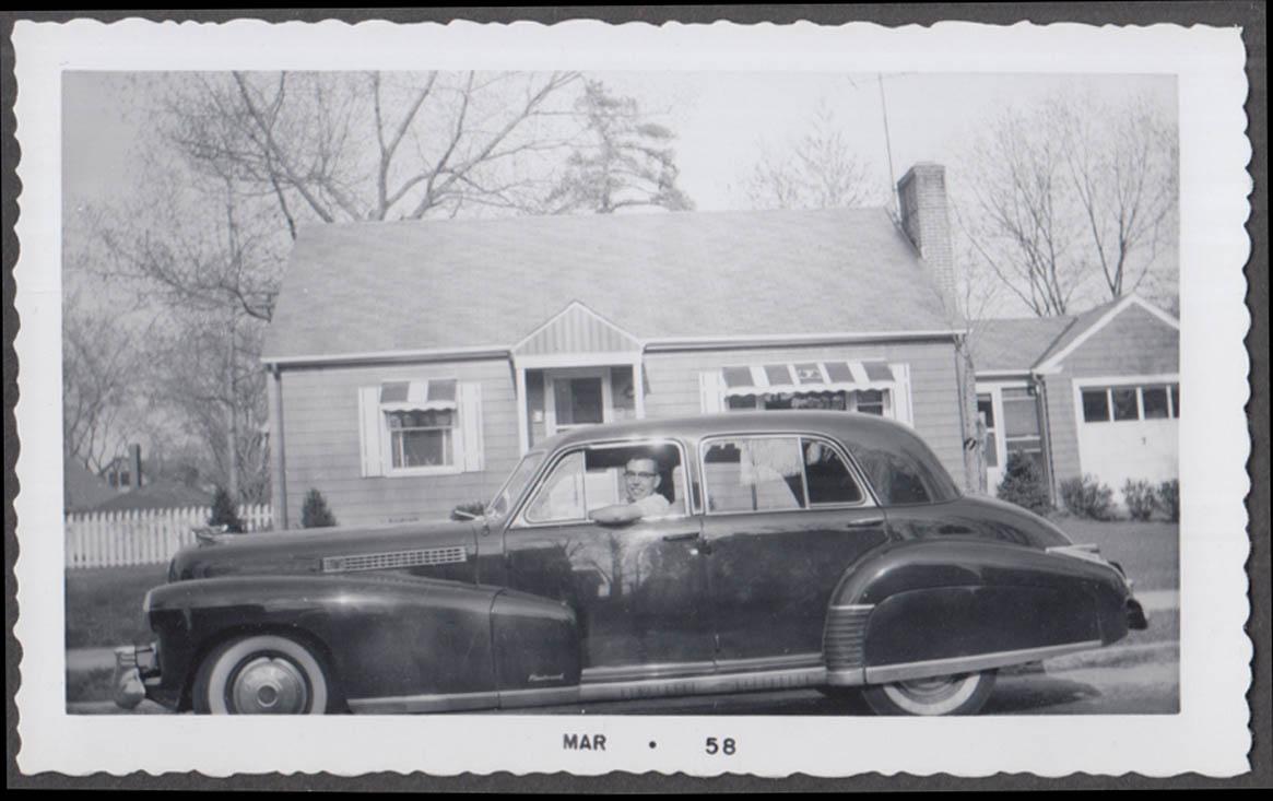 1941 Cadillac Fleetwood sedan vernacular snapshot #1 taken 3/1958
