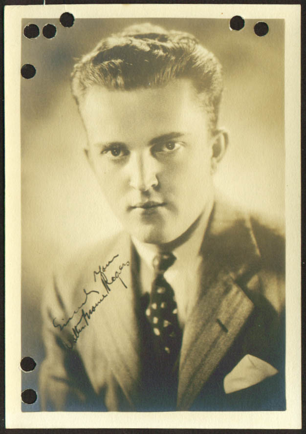 Walter Browne Rogers film actor 1930s 5x7 1906-1943