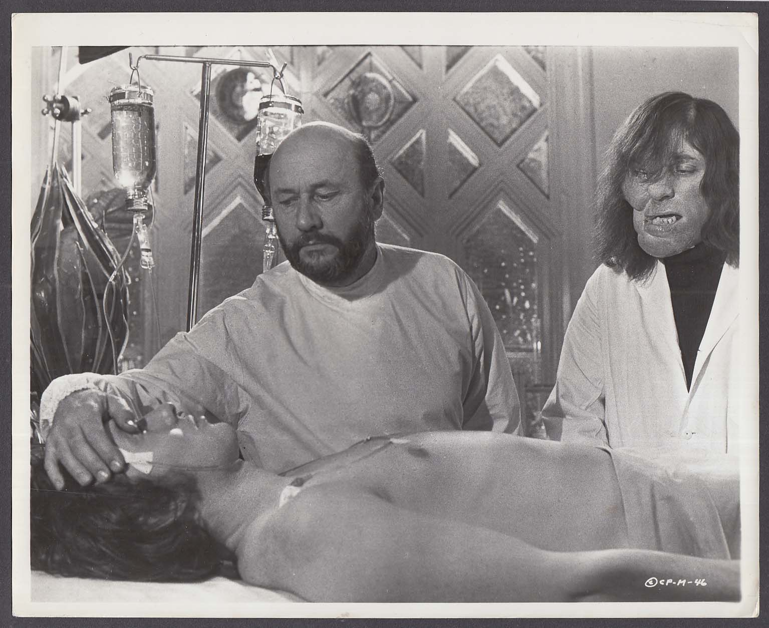 Donald Pleasance & Tom Baker in The Mutations 8x10 photo 1974