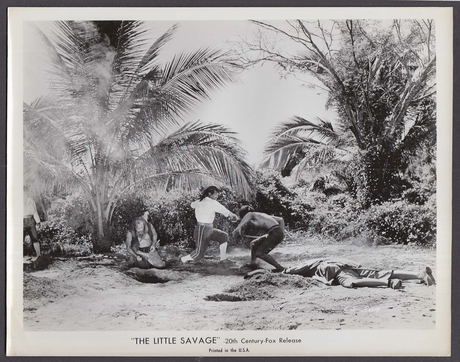Swordfight scene in The Little Savage 8x10 photo 1959