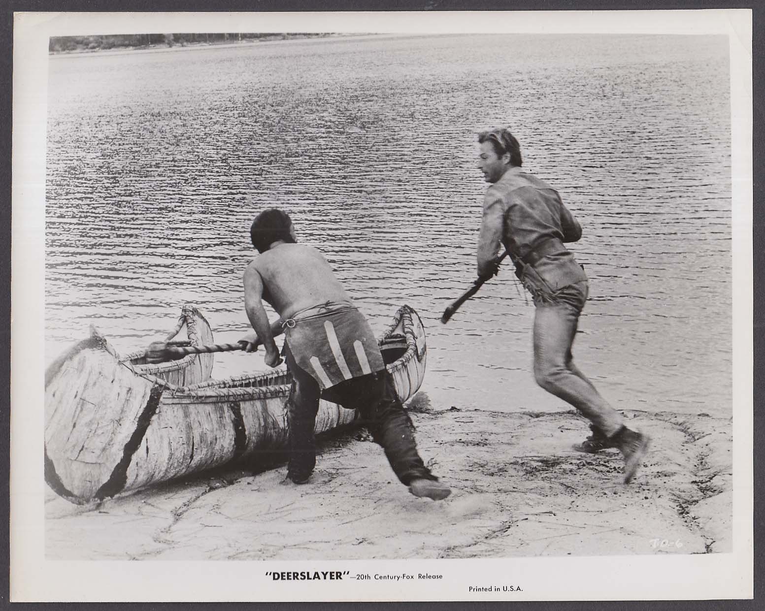 Lex Barker fights Huron Deerslayer 8x10 photo 1957