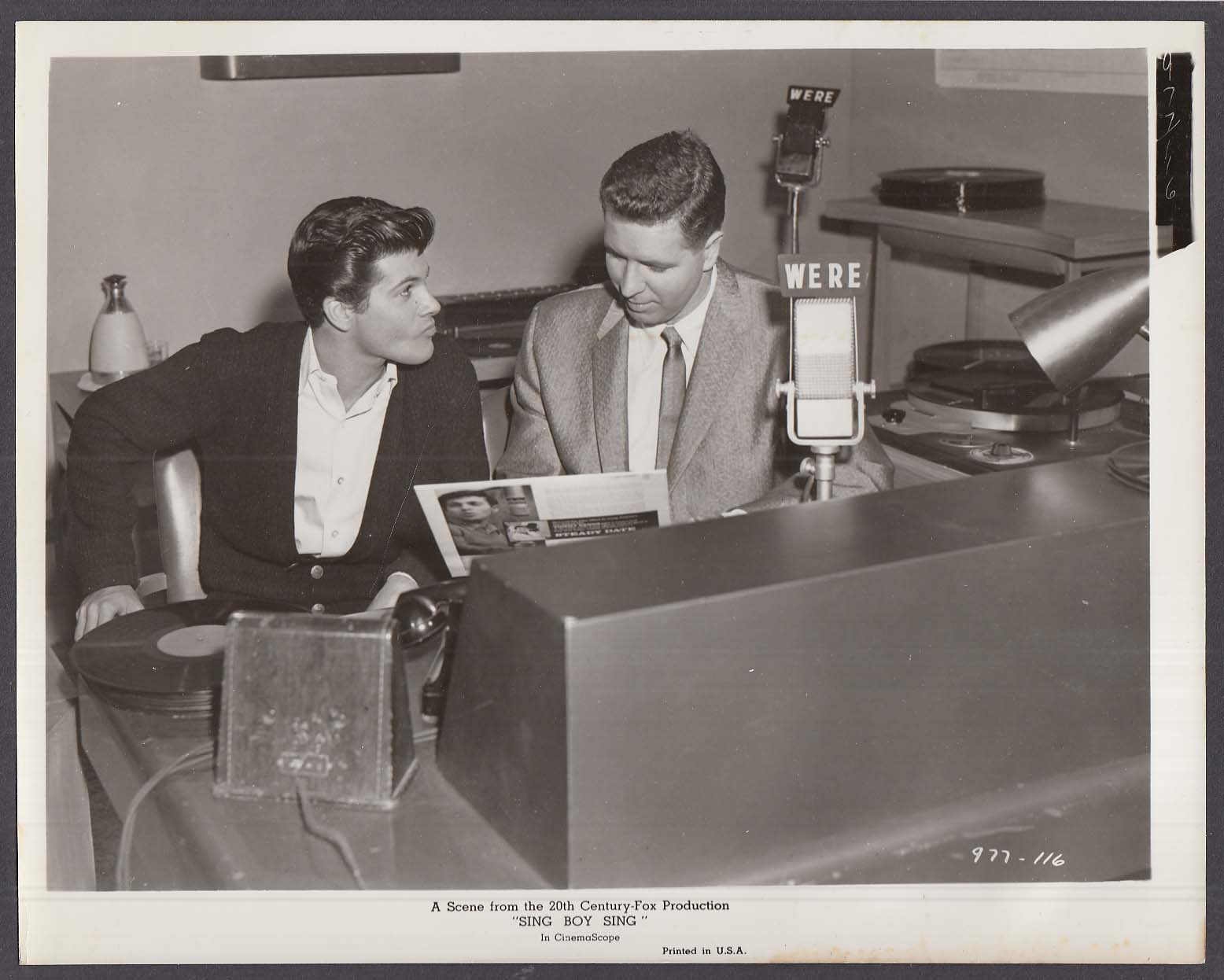 Tommy Sands & WERE DJ Bill Randle Sing Boy Sing 8x10 photo