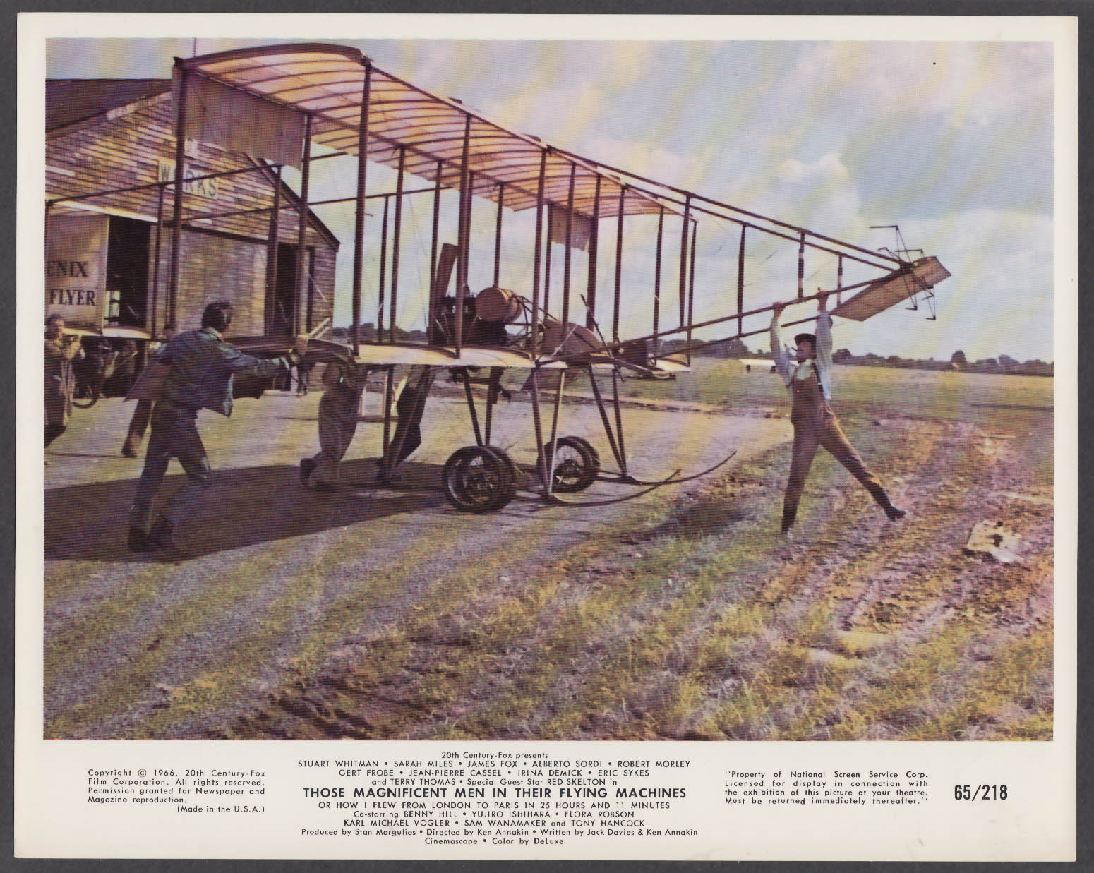 Image for Biplane in Those Magnificent Men in Their Flying Machines 8x10 photo 1966