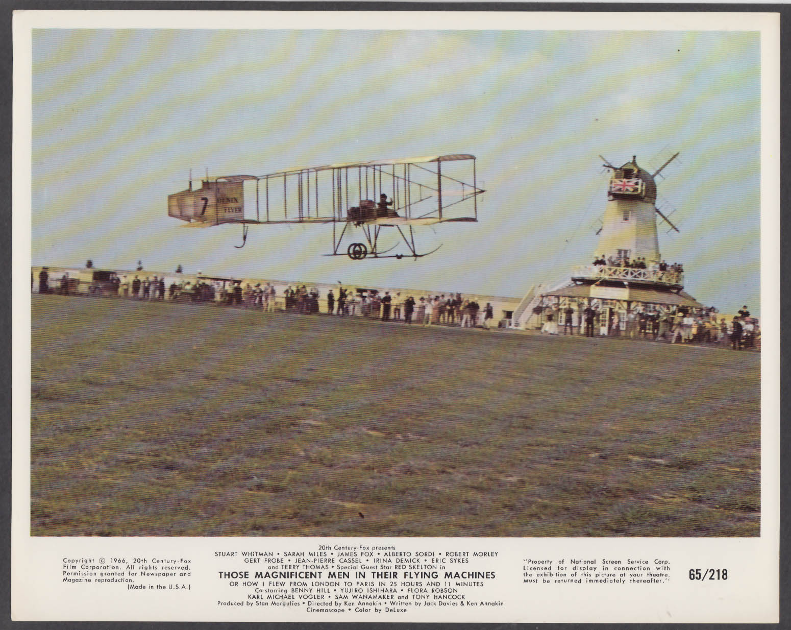 Image for Those Magnificent Men in Their Flying Machines 8x10 photo 1966