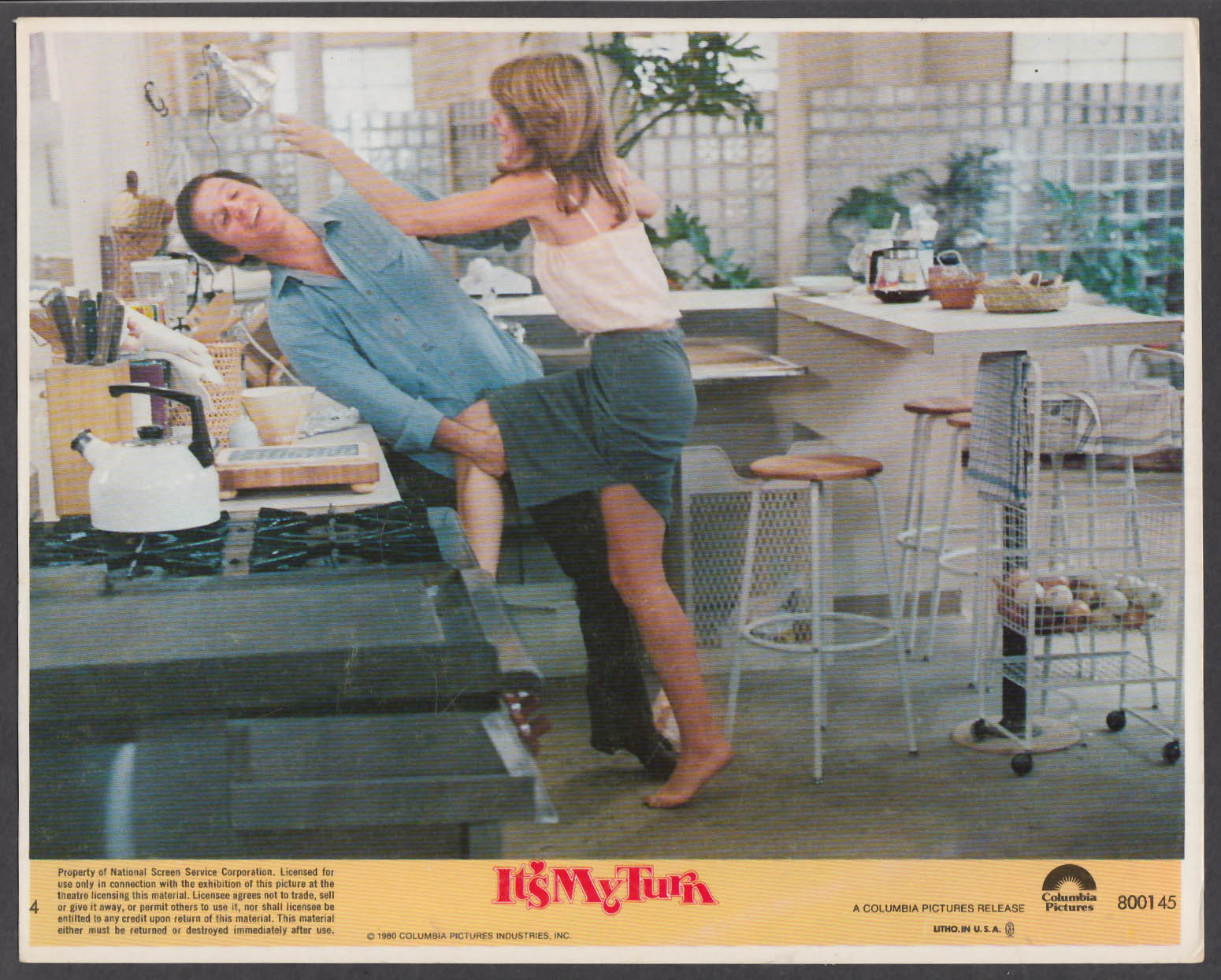 Image for Charles Grodin Jill Clayburgh It's My Turn 8x10 lobby card 1980