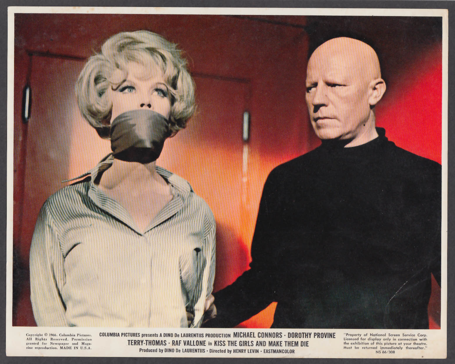 Image for Dorothy Provone in Kiss the Girls and Make them Die 8x10 lobby card 1966