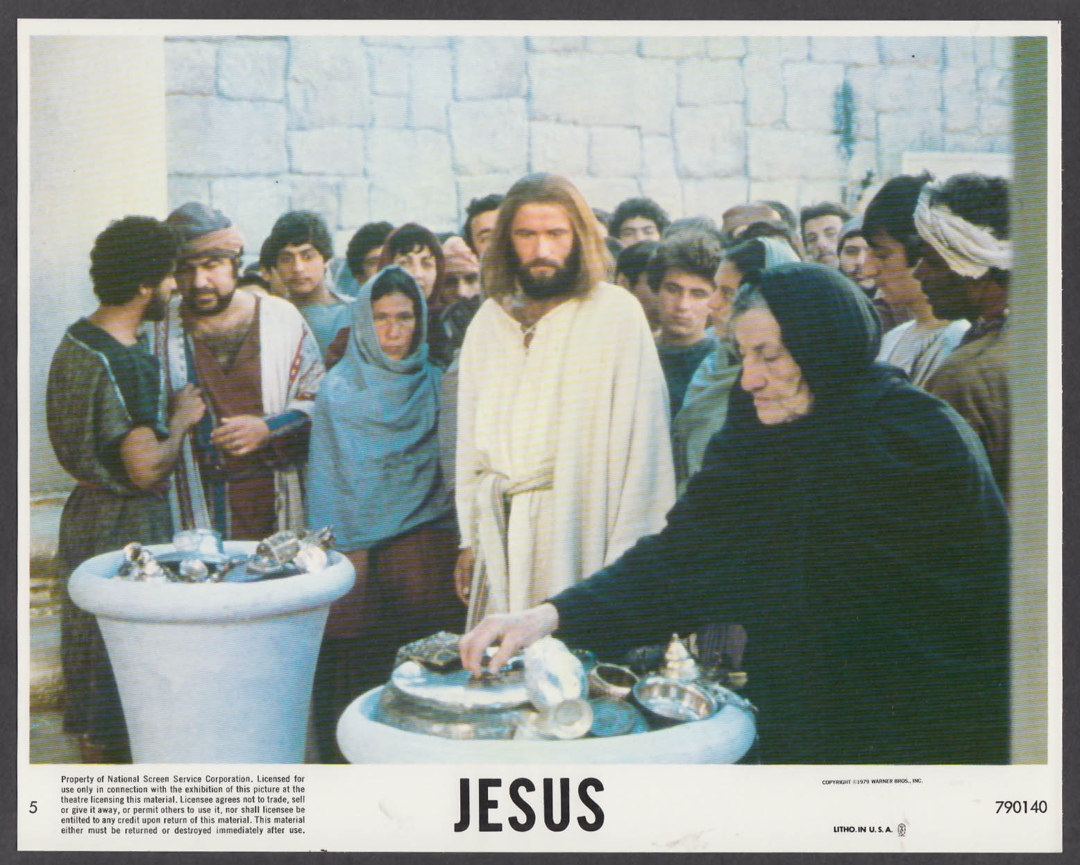 Image for Brian Deacon as Jesus 8x10 lobby card 1979 #3