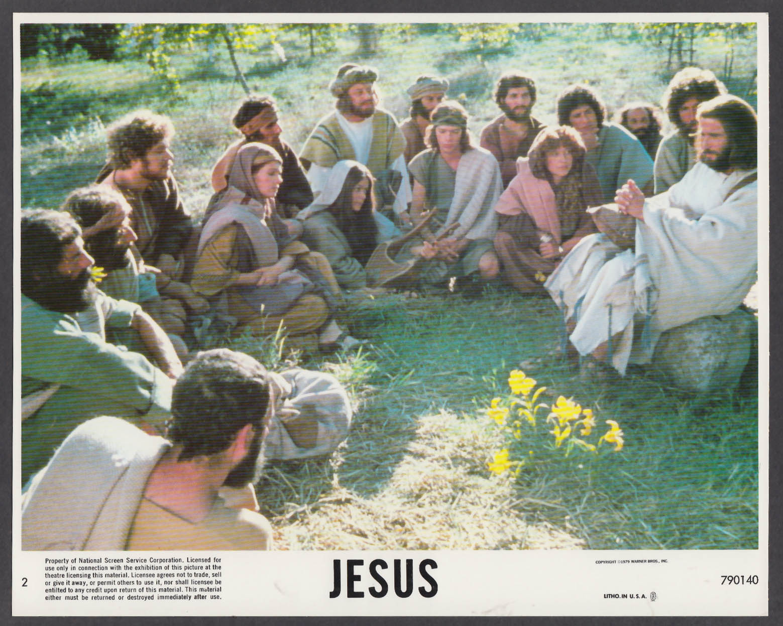 Image for Brian Deacon as Jesus 8x10 lobby card 1979 #1
