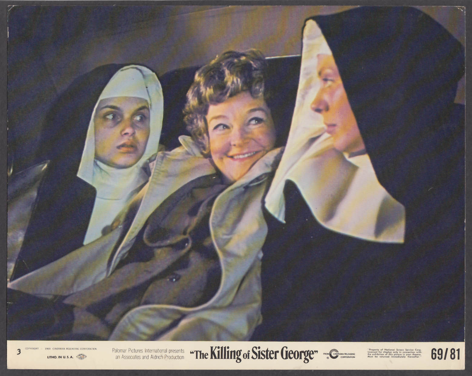 Image for Susannah York & Beryl Reid in The Killing of Sister George 8x10 lobby card 1969