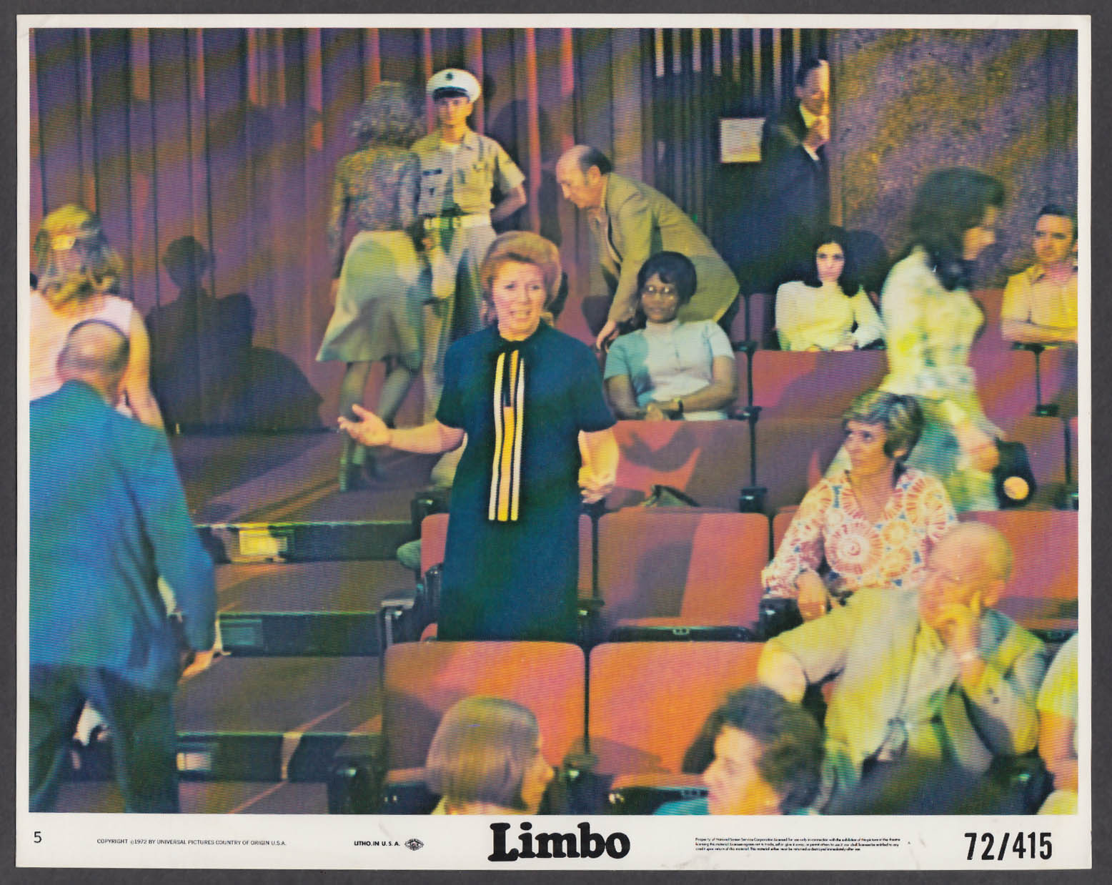 Image for Katherine Justice speaking from audience in Limbo 8x10 lobby card 1972