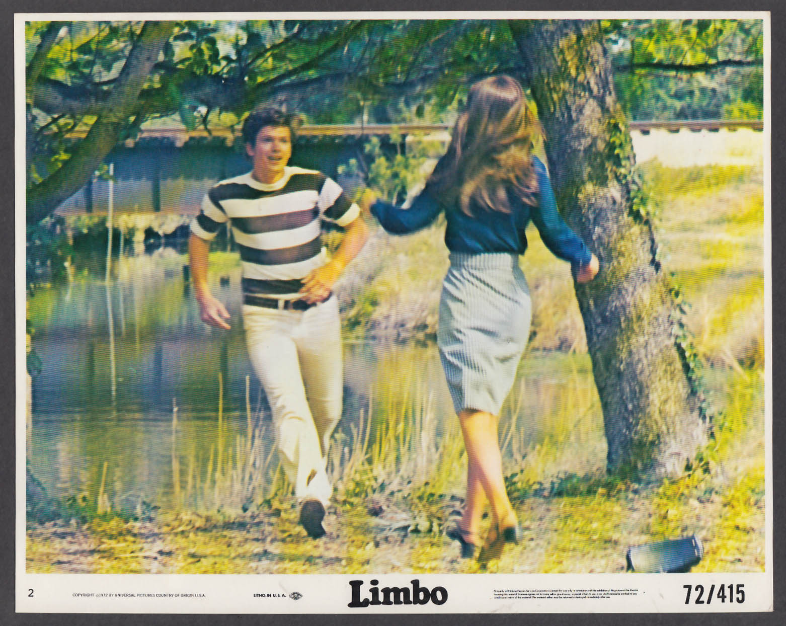 Image for Russell Wiggins & Sandy Lawtin in Limbo 8x10 lobby card 1972