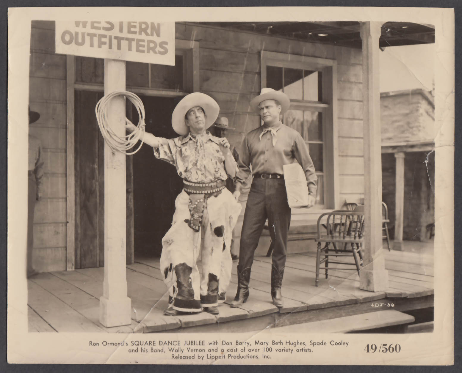 Image for Wally Vernon at Western Outfitters in Square Dance Jubilee 8x10 photo 1949