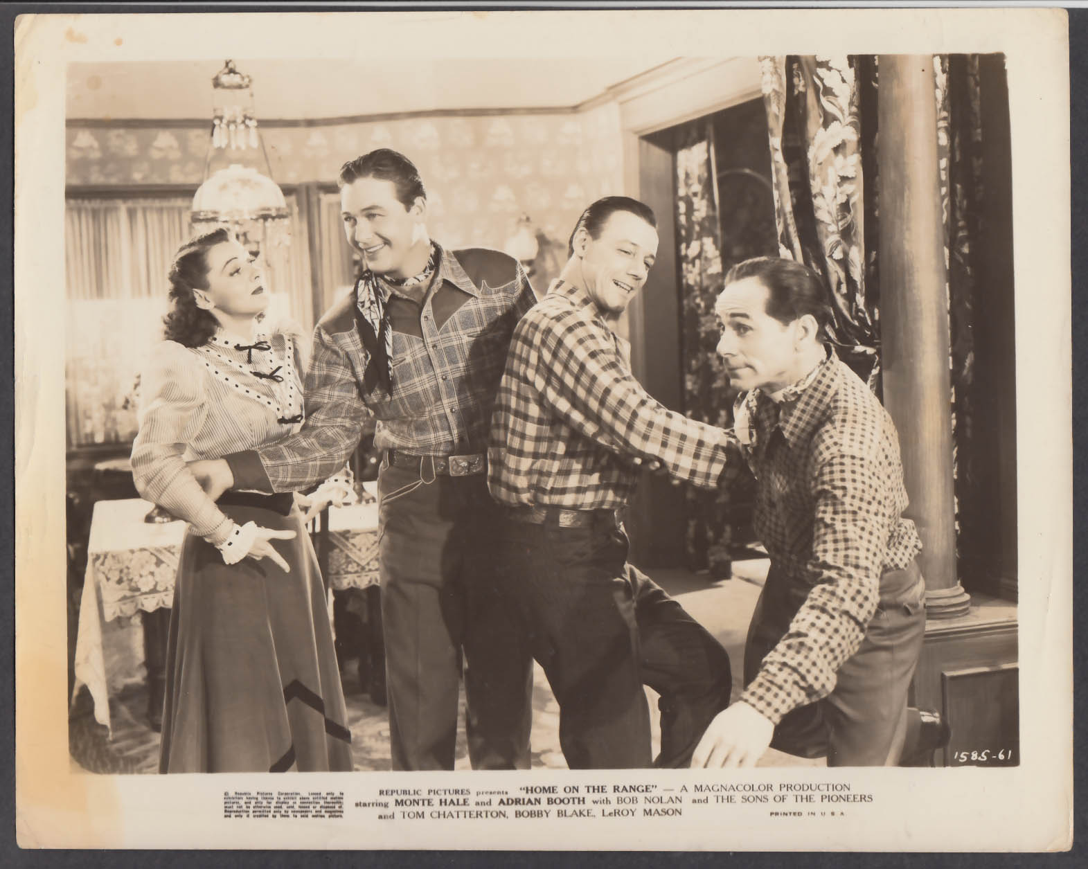 Image for Lorna Gray Monte Hale in Home on the Range 8x10 publicity photo 1946