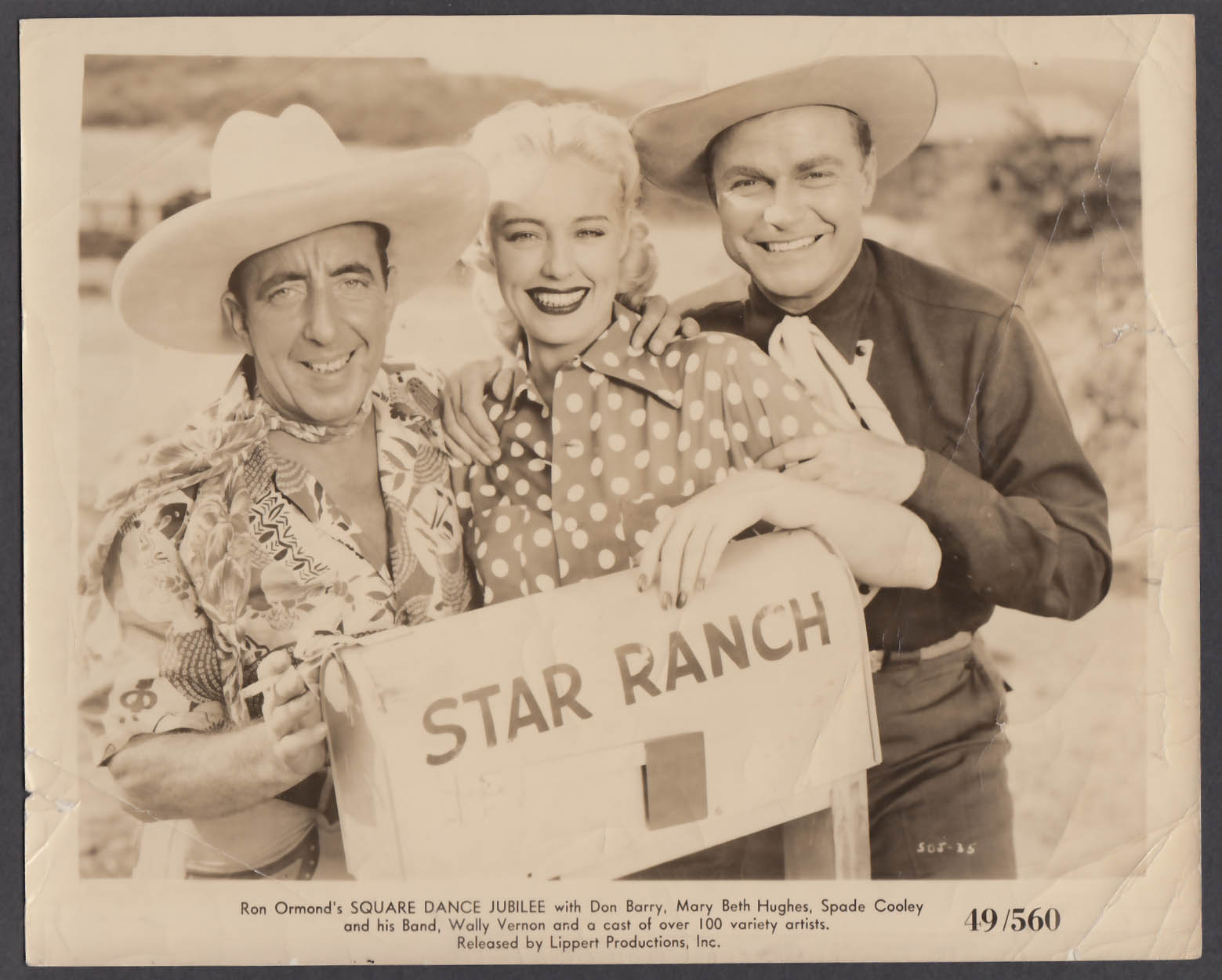 Image for Wally Vernon Mary Beth Hughes Don Red Barry Square Dance Jubilee 8x10 photo 1949